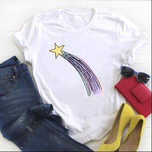 Women Star Womens Tops Cartoon Simple Cute 90s Print Trend Ladies Summer T Tee Female Top Shirt Clothes Graphic