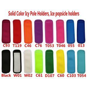 16 Farben Antifreezing Copscles Taschen Werkzeuge Gefrierschrank Eisige Pole Popsicle Inhaber Wiederverwendbare Neoprenisolierei Ice Pop-Ärmeln Tasche für Kinder Sommer