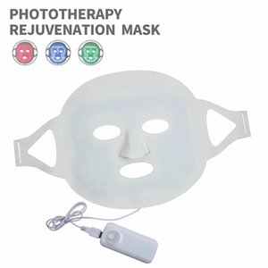 Face Care Devices Silicone LED Facial Mask USB Rechargeable anti-aging 3 Colors PDT Photon Skin Rejuvenation Acne Treament