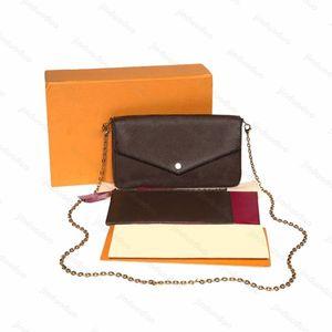 luxury designer original 3 piece shoulder bag brand hobo women men chain Tote clutchbag famous Crossbody bags handbag POCHETTE FeLICIE handbags Wallet Purses