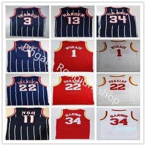 Retro Vintage Basketball Herren 13 Harden Trikots Günstige Hakeem 34 Olajuwon Tracy Steve McGrady Francis Yao Clyde Ming Drexler Top Qualität