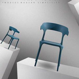 Nordic Plastic Dining Chair Simple Milk Tea Restaurant Adult Backrest Corner Living Room Furniture