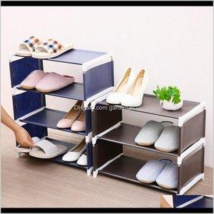 Storage Holders Racks 4 Layers Nonwoven Shoe Rack Large Size Living Room Fabric Dustproof Cabinet Organizer Holder Diy Foldable Stand Abus1