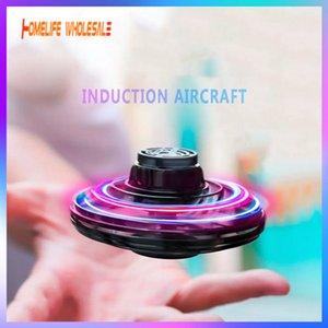 Flynova Ufo Fidget Spinner Игрушка Детские Портативные Симуляторы Вылеты 360 ° Вращающиеся Светодиодные Светодиоды Светодиодные Осветить Рождество Летающие игрушки Подарок DHL Быстрый