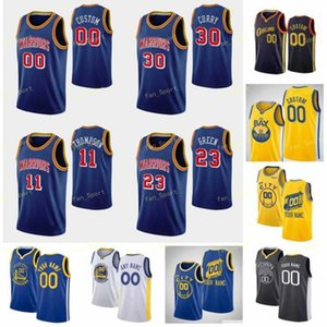 Blue 75th Anniversary Gary 0 Payton II Basketball Jersey Kent 26 Bazemore Stephen 30 Curry James 33 Wiseman Juan 95 Toscano-Anderson Custom City Earned Edition