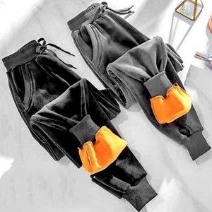 Autumn Winter Women Casual Slim Workout Warm Thicken Harem Trousers Female Loose Drawstring Running Sport Plus Velet Pants Q188 Women's & Ca