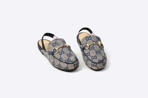 Девушка Обувь Летние Сандалии Пляж Мода Дизайнер Письмо Тапочки Натуральная Кожа Высокое Качество Дети Необычные Лодыжки Ремешок Сандалия Обувь