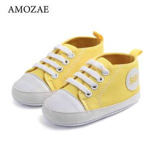 Walking shoes 10 Color Baby Boys Girls Shoes For born Canvas Print First Hiker Anti Slip Soft Feet Prewalker 210827