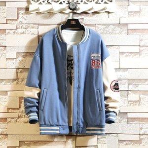 Men's casual baseball suit, short sleeve bomber jacket, brand clothing, black stitching, big discount, 2020 J0602