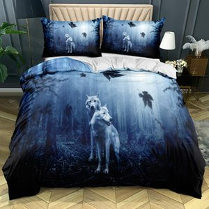 Bedding Sets 3D Custom-make Animals Comforter Case Wolf Design King Double Single Size Home Textile