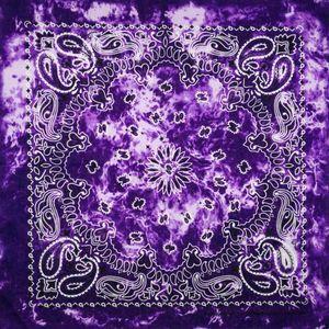 New Design Tie dye Women Cotton Square Scarf Gradient color Hip Hop Bandana Cashew Headband Scarf Gifts For Men Boys Girls
