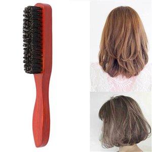 Hair Brushes 1Pc Brush Wood Handle Natural Boar Bristle Beard Comb Styling Massage Anti-static Tool