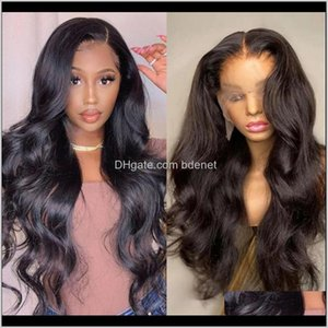 Virgo Body Wave 13X4 Front Pre Plucked With Baby Brazilian Human Hair Long Lace Frontal Wigs For Black Women Remy Wspho Czxij
