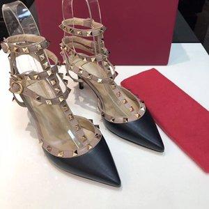 2020 nuevos diseñadores mujeres tacones altos fiestas fiestas de fiestas chicas sexy zapatos puntiagudos zapatos de baile zapatos de boda correas de doble sandalias