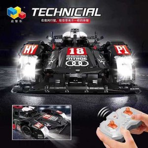 Electric Rc car Physical shootingqizhile 23011 remote control Audi R18 equation racing technology series assembled toy building blo