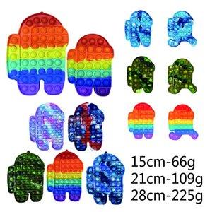 Big Size Rainbow Tie Dye Camouflage Fidget Bubble Popper Push pop Poppers Board Mega 46CM 43CM 28CM 20CM finger puzzle G612HOU