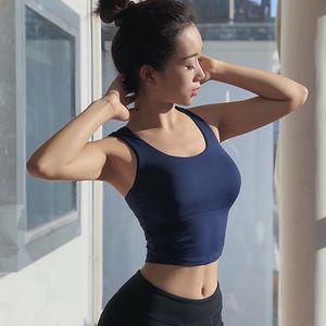 WMuncc Sport BH Frauen Fitness Top Hohe Wirkung Yoga BH Sport Stoßfest BH Kreuz Workout Gym Yoga Tops Push Up Sportswear 1381 Z2