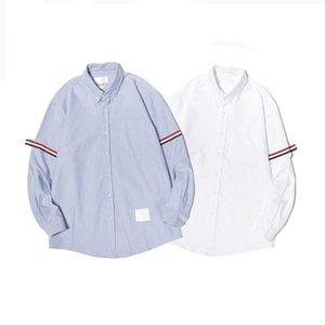 Мужские повседневные рубашки 2021 летние женщины дизайнеры платья одежда мода мужская сплошная цветная одежда тренда с длинным рукавом тройники женские дизайнерские шаблон футболки