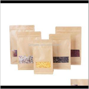 Bulk Kitchen Storage Housekeeping Organization Home & Garden Drop Delivery 2021 Kraft Tea Of Dried Fruit Food Packaging Octagonal Brown Paper
