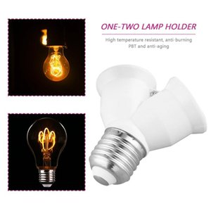 Lamp Holders & Bases E27 To One-Divided-Two Light Bulb Base Y Shape Splitter Holder Adapter Converter