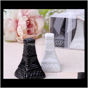 Favor 100Pcs(50Sets) Lot Tower Ceramic Salt Pepper Shakers Wedding Decorations Favors And Event Party Supplies Sn11831 G9E7C Rj23P