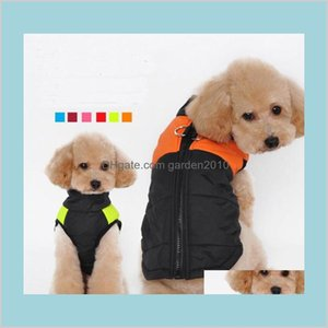 Dog Apparel Supplies Pet Home & Garden Fashion Clothes For Small Winter Coat Jacket Dogs Vest Clothing Winterproof 6 Colors Drop Deliv