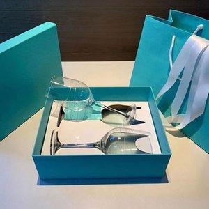 Diseño de lujo Crystal Goblet Martini Vidrio de vino Cena romántica Cena de la luz de las velas Boda Champagne Flautas Vidrios Taza