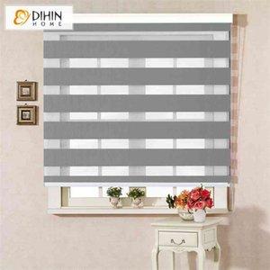 DIHIN HOME Upgarded Type High Quality Modern Zebra Blinds Rollor Blind Curtain Custom Made Blinds For Home Decor 210722