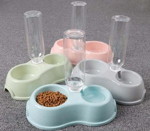 Automatic Pet Feeder Water Dispenser Cat Dog Drinking Bowl Dogs Dish Feeding Watering Supplies 8.5X17cm 1PC Bowls & Feeders