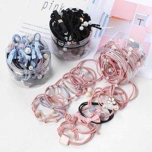 Korean version rubber band net red ins head rope Korea binding leather cover Sen women's hair ring headdress