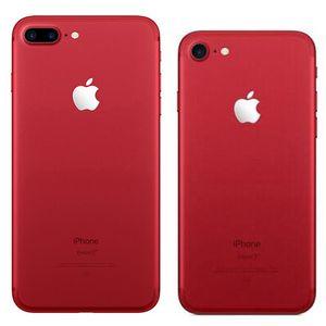 Red Color Refurbished Original Apple iPhone 7   7 Plus Fingerprint iOS 32 128 256GB ROM Quad Core 12MP 4G LTE Smart Phone Free DHL 30pcs