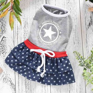 Casual Dog Dress Summer Clothes New Product Denim Luxury Girl Women Pet Wedding Princess Skirt Costume For Puppy Animal K0NA