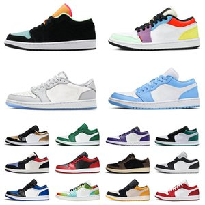 Ayakkabı nike air jordan retro 1 low Erkek Kadın Basketbol Ayakkabıları jordans jumpman aj 1s off white Court Purple UNC Mocha Island Light Smoke Grey Ayakkabıları Eğitmenler