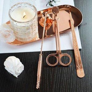 قصاصات شمعة البخور طفايات الحريق أداة صينية معدنية ثلاث قطعة مجموعة