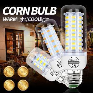 Bulbs E27 LED Lamp E14 Lighting Bulb AC 110V 220V Corn Light 3W 5W 7W 12W 15W 18W Crystal Chandelier For Home Decor