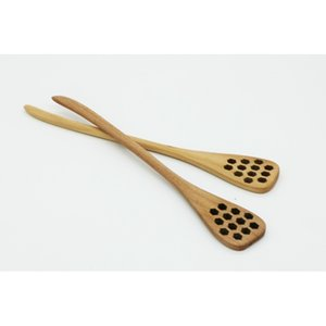 Cute Wood Creative Carving Stirring Spoons Honeycomb Carved Honey Dipper Kitchen Tool Flatware Accessory with fast shipment 6O1G