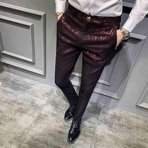 Suit Pantalon Hombre Vestir Autumn Social Perfume Men Dress Pants Slim Fit Casual Mens Trousers Office