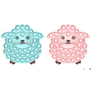 Tiktok Christmas Pop Fidget Toys Juguetes Push Bubble Rainbow Lindo Sheep Swnes Swan Fish Autism Need Need King Day Ewe6008