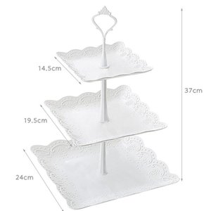 Other Bakeware 3-Tier Cake Stand European Style Pastry Cupcake Fruit Plate Serving Dessert Holder Wedding Party Display Tower Home Decor