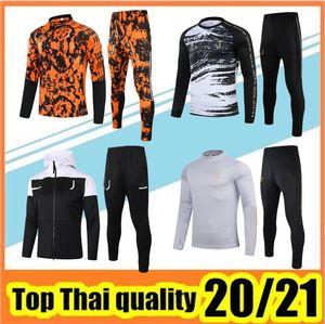 20 21 Crianças Jaqueta de Futebol Treinamento Terno 2021 Homens e Jaquetas Criança Kit Full Zipper Sweater Tracksuit
