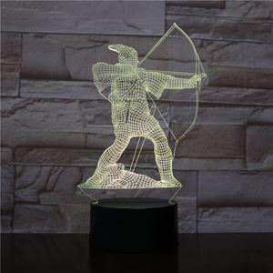 Terracotta Ordusu 3D Gece Lambası, Dokunmatik 7 Renkler Değişim, Optik Illusion LED Lamba USB Masa Masası Aydınlatma Çocuklar Oyuncak Yatak Odası Dekor Noel Tatil Doğum Günü Hediyeleri Boy Gir