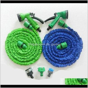 Hoses Faucets Showers Accs Home Drop Delivery 2021 3X Expandable Magic With 7In1 Spray Nozzle 25Ft50Ft75Ft100Ft Irrigation System Garden Hose