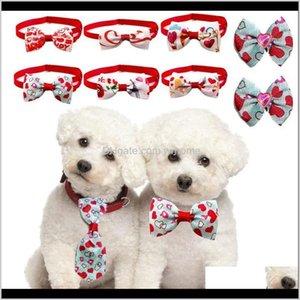 Собака для собак Главная Гардендог Бестористые резиновые полосы бабочка галстук в горошек кивает валентинок в день Святого Валентина креативное ухождение волосы кошка домашнее животное