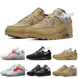 2021 Высочайшее качество 90 Подушка Мужские Женщины Беговые Обувь На открытом воздухе Off Road Trainers Lady Walk Walk Ore Triple Черный Белый Гонщик Designer Z16 CV4