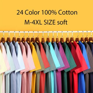 100% Cotton EU SIZE 24 Colors Men Short Sleeve T Shirt Fitness T-shirts Mens O Neck Man Tops Male Tshirts XS-XXL Men's
