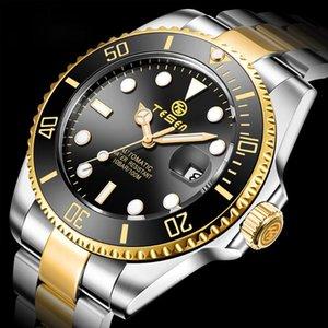 Наручные часы Тесен Роль Мужчины Механические наручные часы Автоматические часы Сапфировое стекло Керамическое рутирование кольцо 2021 Steeldive Relogio Masculino