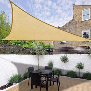 Waterproof Sun Shelter Triangle Sunshade Outdoor Canopy Garden Patio Pool Shades Sail Awning Camping Shade Cloth Large