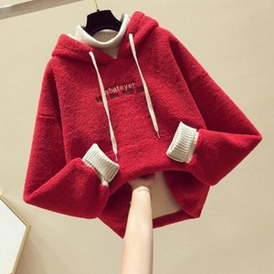 Pullover Soft Winter Spring Autumn Sweater Warm Kids Girl Plus Velvet Lamb Wool Thicken Lace Outfits Baby Boutique Toddler Children Hood