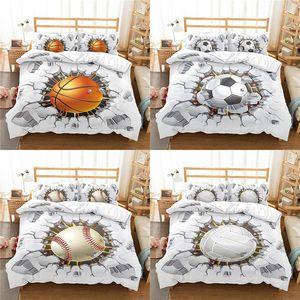 Home Textile Luxury 3D Ball Print 2 3Pcs Comfortable Duvet Cover Pillowcase Bedding Sets Single Queen And King EU US AU Size
