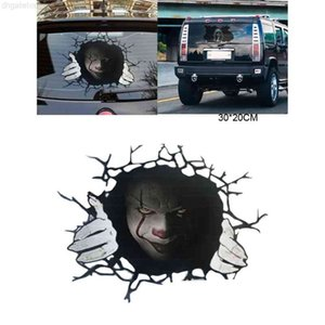 Horror Halloween Pattern Stickers Personalized Design Car Door Window Exterior Body Decorative Stickers for Adults